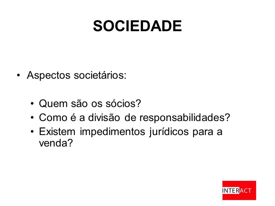 SOCIEDADE Aspectos societários: Quem são os sócios