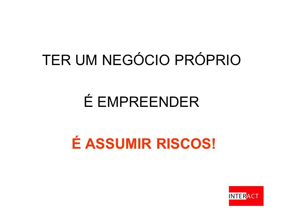 TER UM NEGÓCIO PRÓPRIO É EMPREENDER É ASSUMIR RISCOS!
