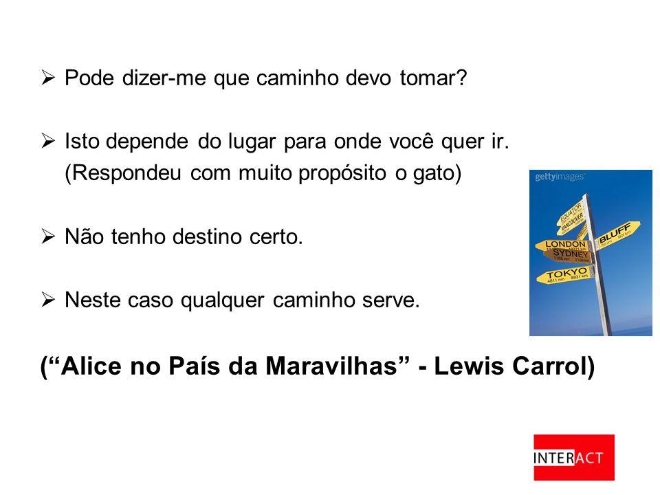( Alice no País da Maravilhas - Lewis Carrol)