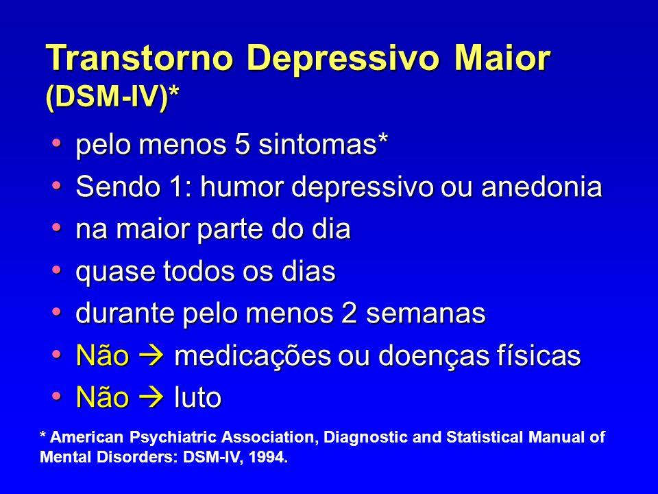 Transtorno Depressivo Maior (DSM-IV)*