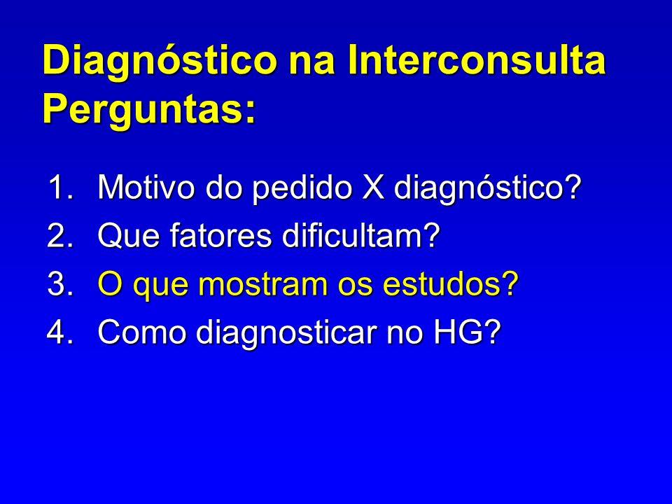 Diagnóstico na Interconsulta Perguntas: