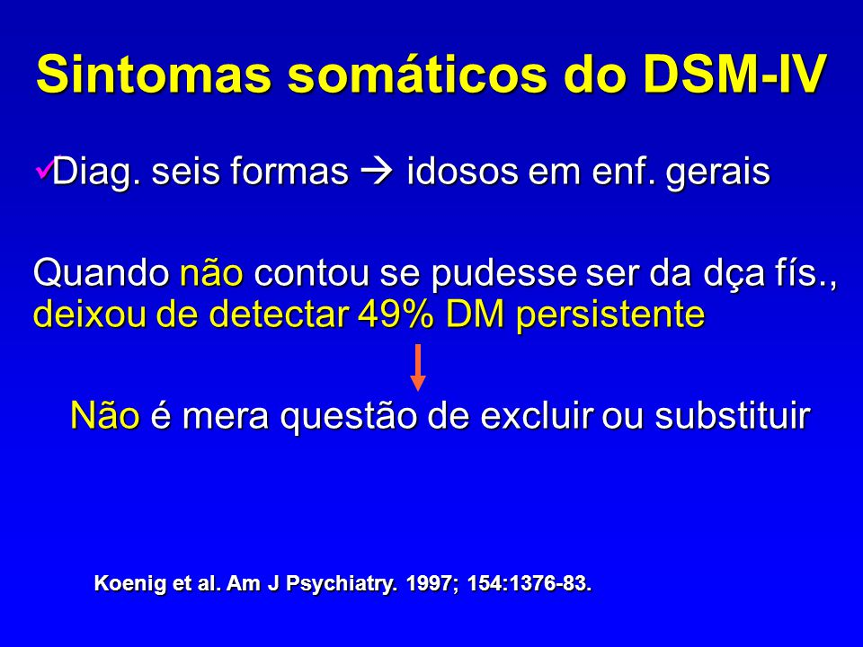 Sintomas somáticos do DSM-IV
