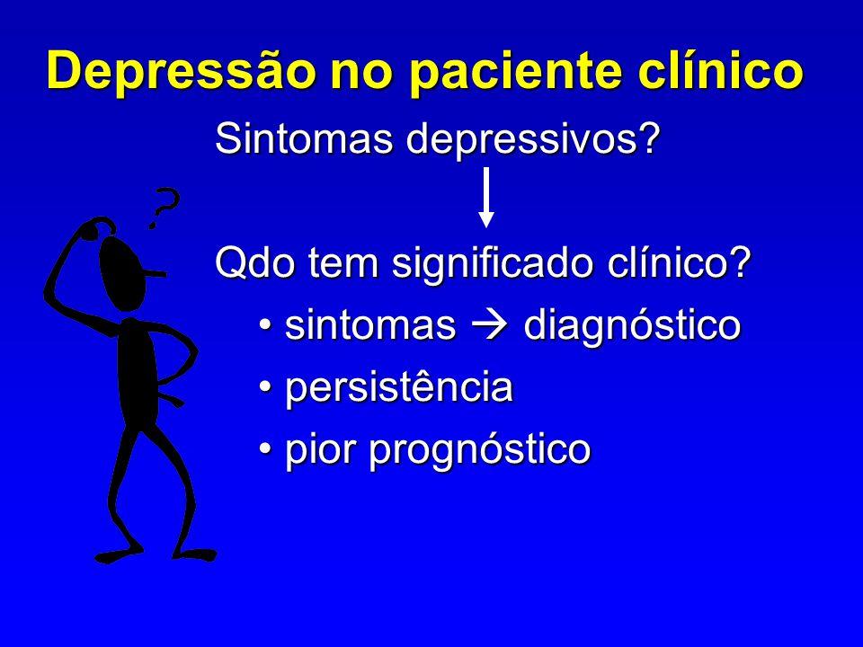 Depressão no paciente clínico