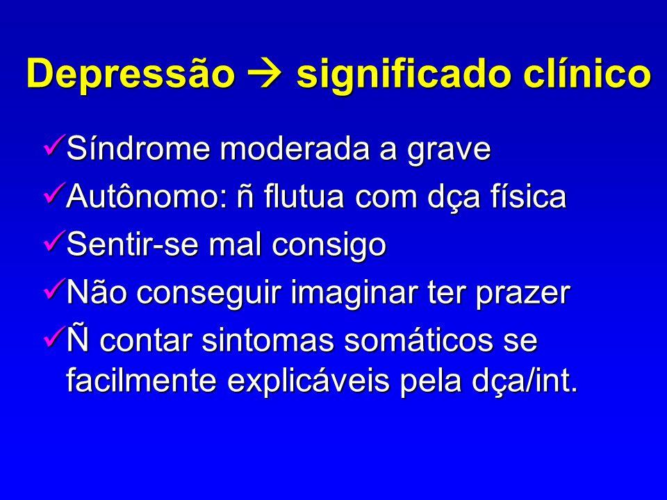 Depressão  significado clínico