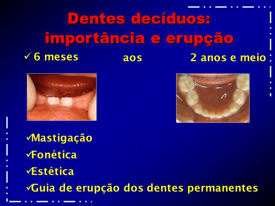 Dentes decíduos: importância e erupção