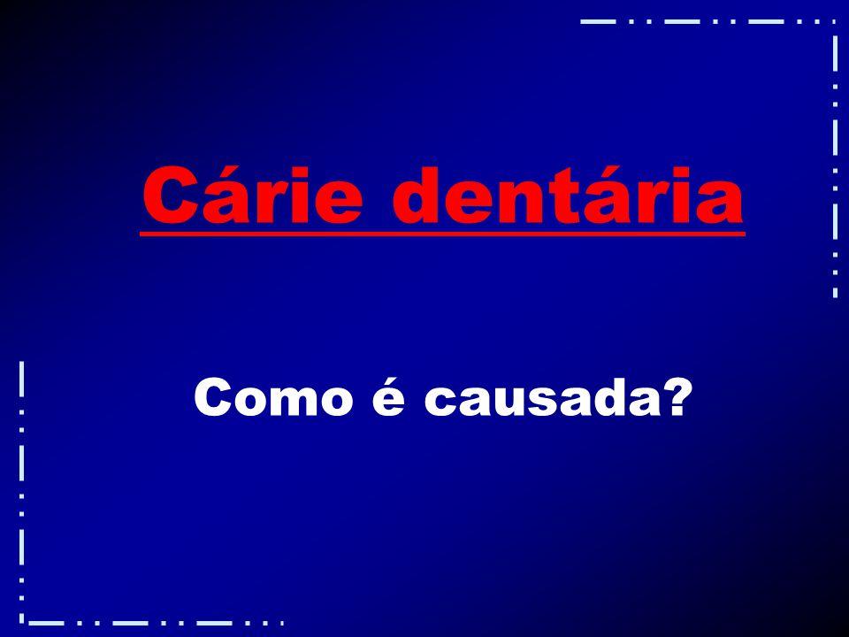 Cárie dentária Como é causada