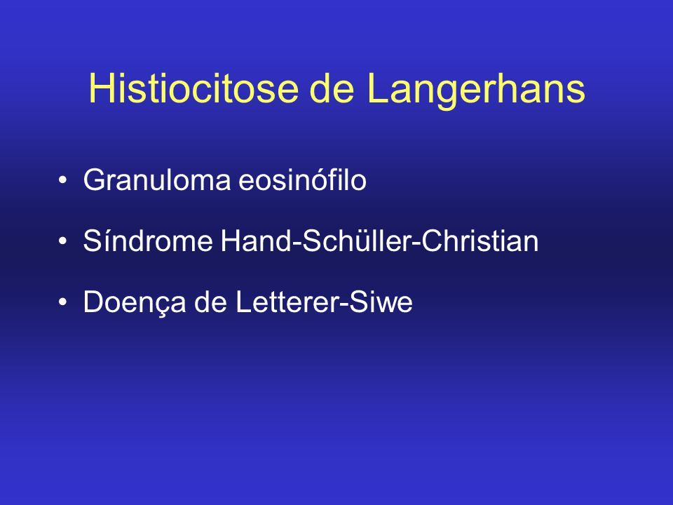 Histiocitose de Langerhans