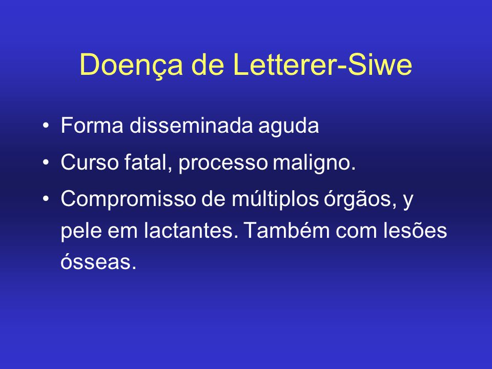 Doença de Letterer-Siwe