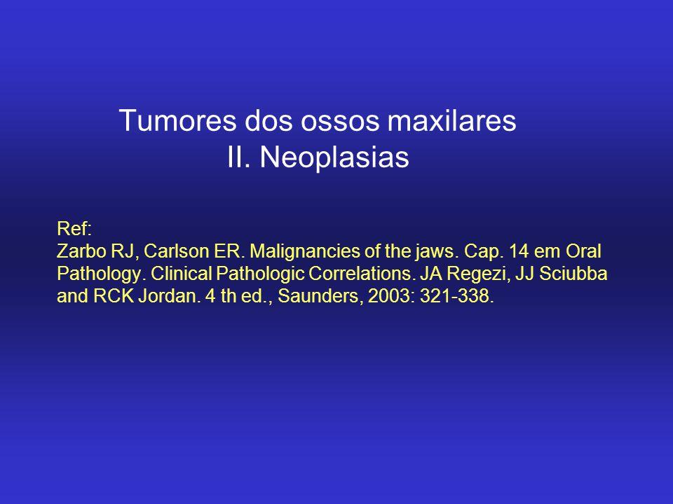 Tumores dos ossos maxilares II. Neoplasias
