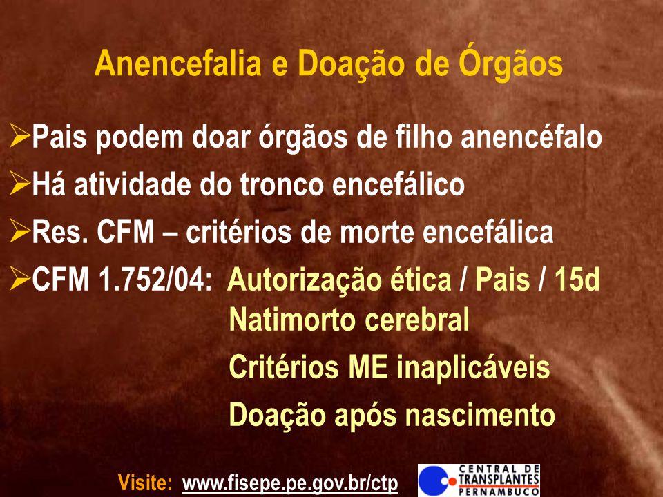 Anencefalia e Doação de Órgãos