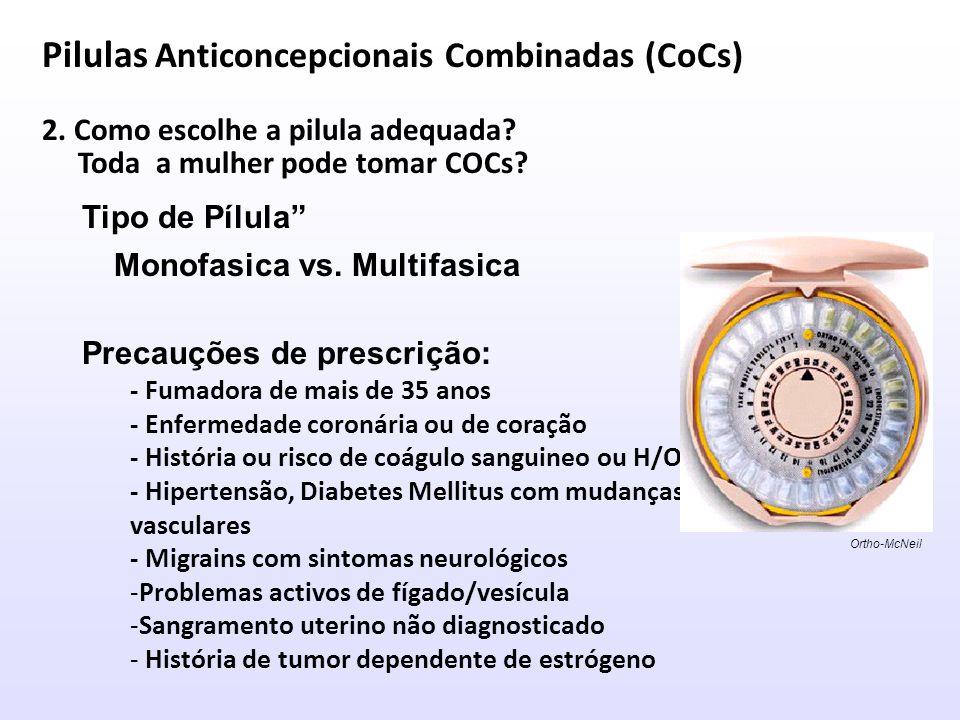 Pilulas Anticoncepcionais Combinadas (CoCs)
