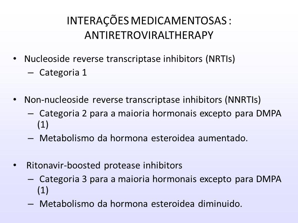 INTERAÇÕES MEDICAMENTOSAS : ANTIRETROVIRALTHERAPY