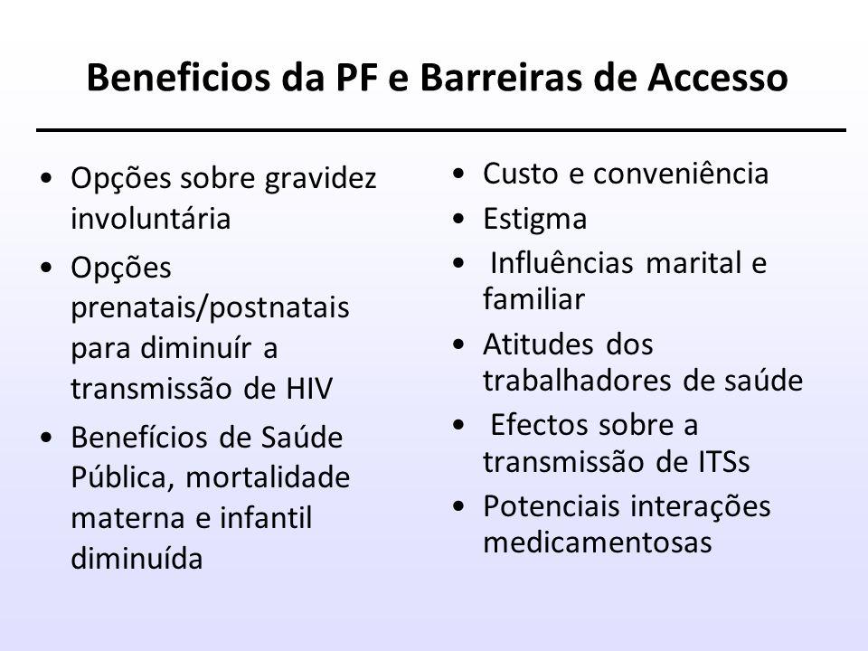Beneficios da PF e Barreiras de Accesso