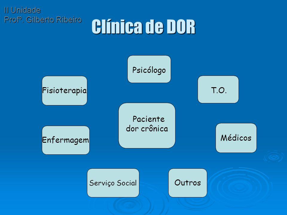 Clínica de DOR II Unidade Profº. Gilberto Ribeiro Fisioterapia