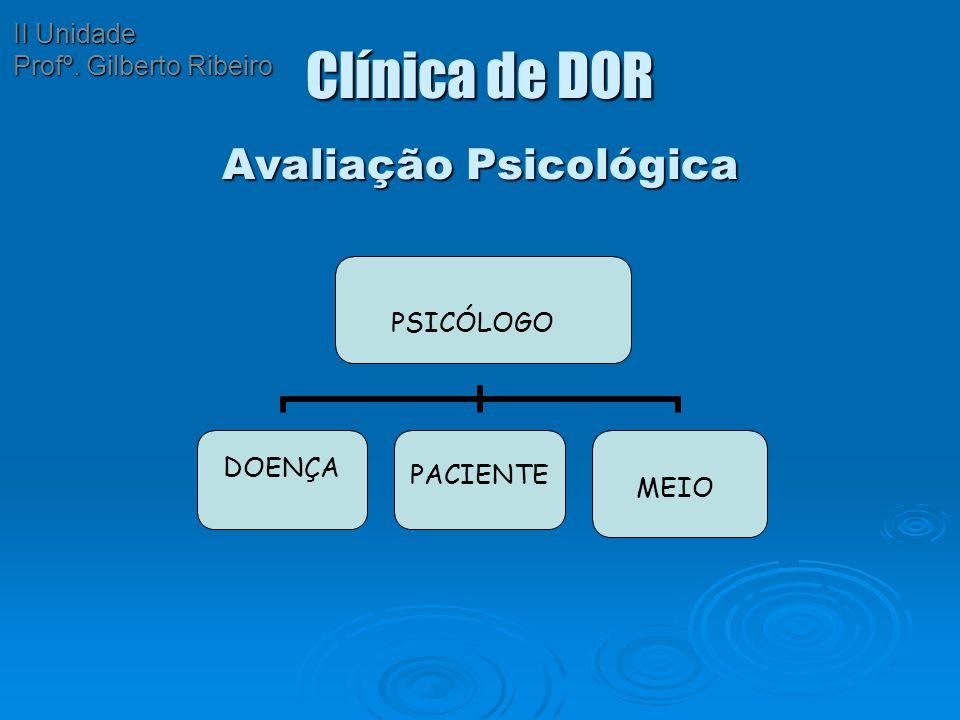 Clínica de DOR Avaliação Psicológica