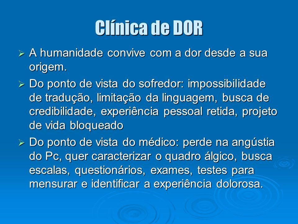 Clínica de DOR A humanidade convive com a dor desde a sua origem.