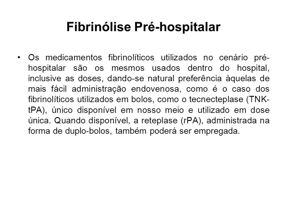 Fibrinólise Pré-hospitalar