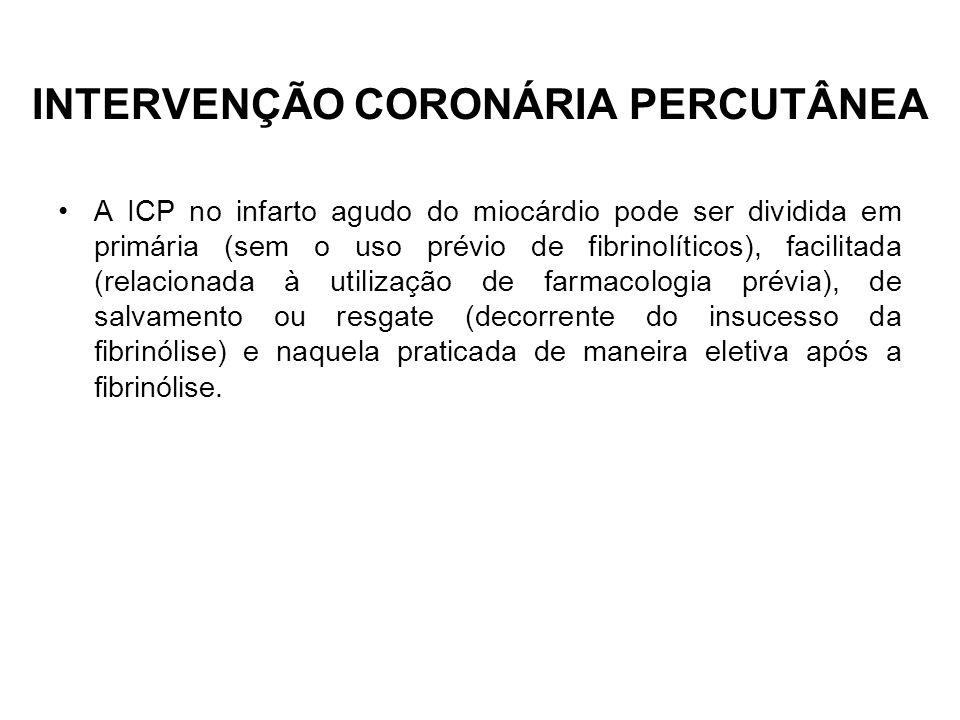 INTERVENÇÃO CORONÁRIA PERCUTÂNEA