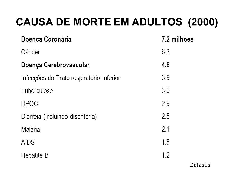 CAUSA DE MORTE EM ADULTOS (2000)