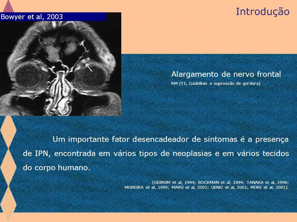 Introdução Alargamento de nervo frontal Bowyer et al, 2003