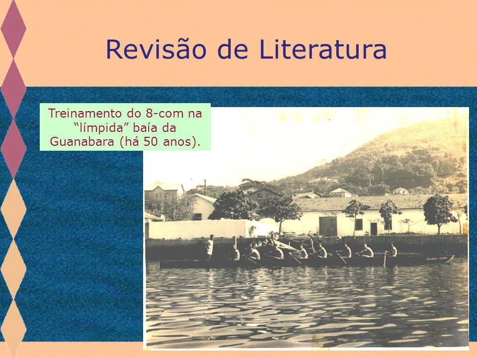 Treinamento do 8-com na límpida baía da Guanabara (há 50 anos).