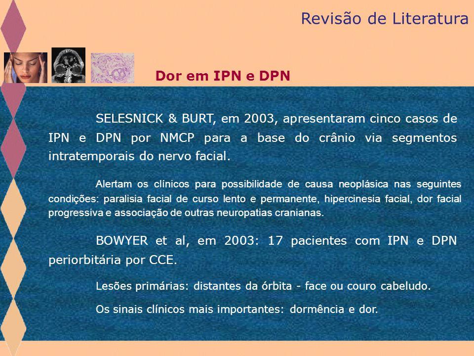 Revisão de Literatura Dor em IPN e DPN