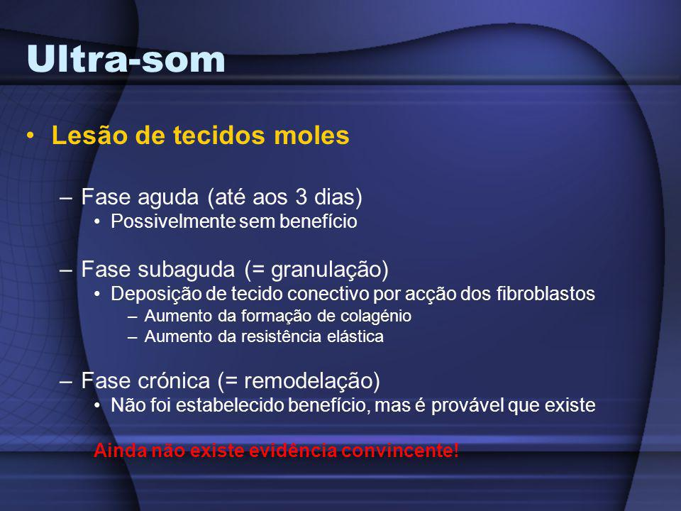 Ultra-som Lesão de tecidos moles Fase aguda (até aos 3 dias)
