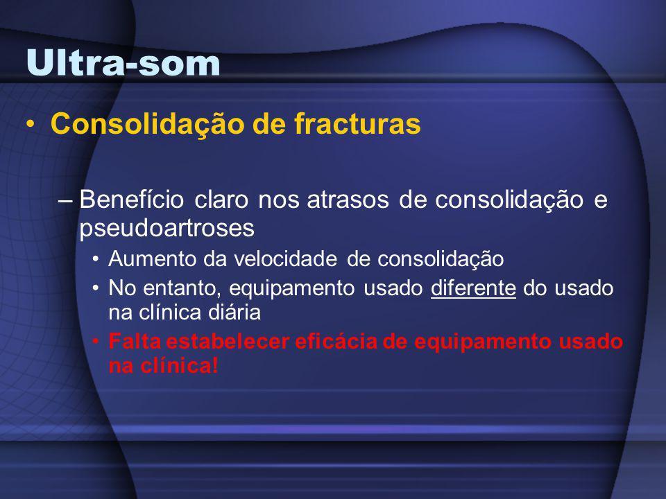 Ultra-som Consolidação de fracturas