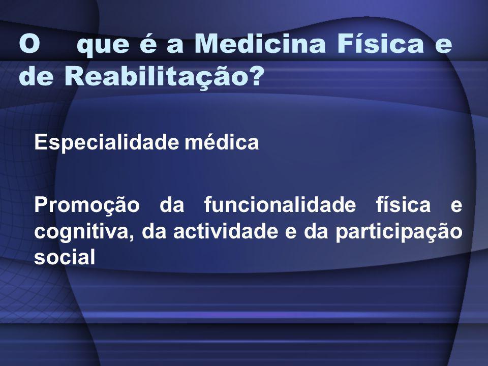 O que é a Medicina Física e de Reabilitação