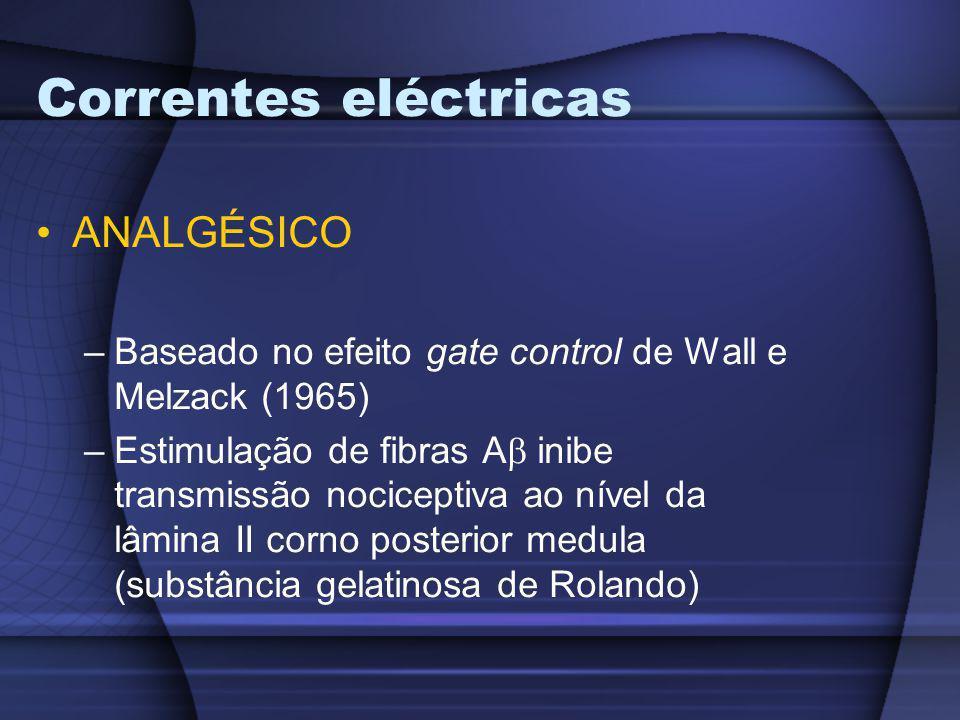 Correntes eléctricas ANALGÉSICO