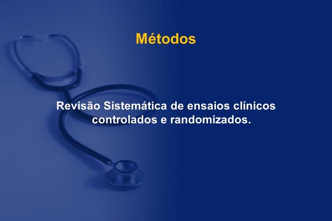 Revisão Sistemática de ensaios clínicos controlados e randomizados.