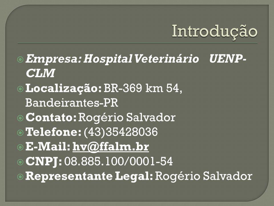 Introdução Empresa: Hospital Veterinário UENP-CLM