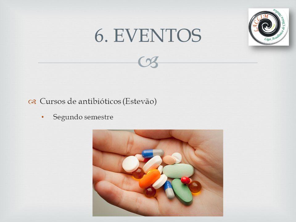 6. EVENTOS Cursos de antibióticos (Estevão) Segundo semestre