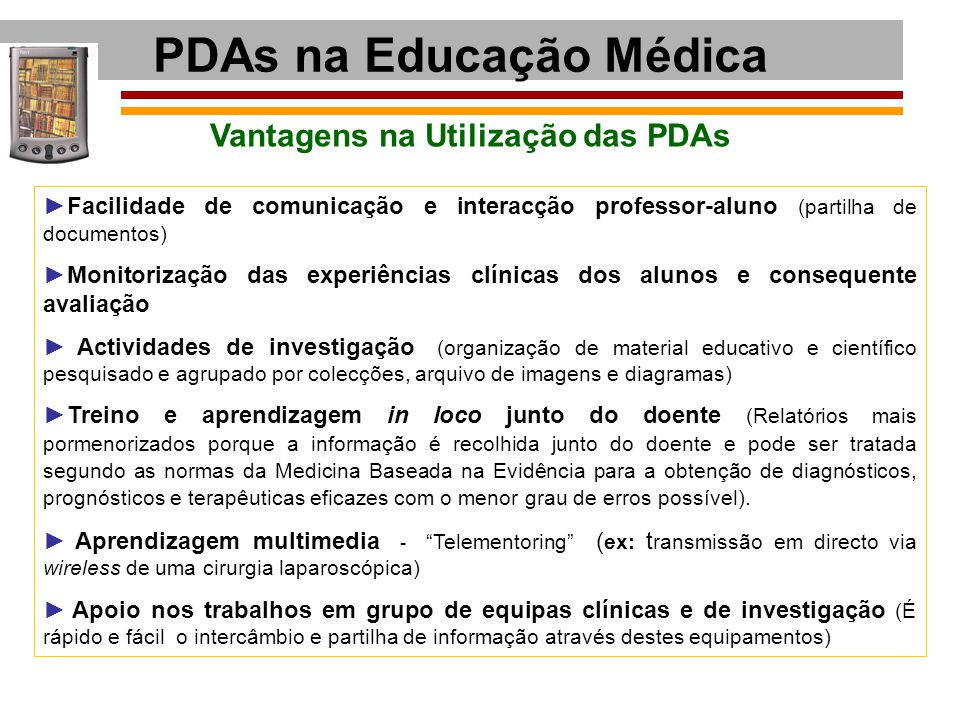 PDAs na Educação Médica