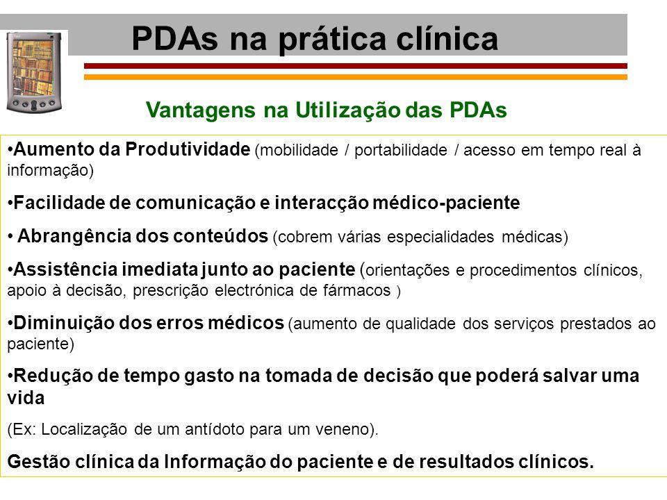 PDAs na prática clínica