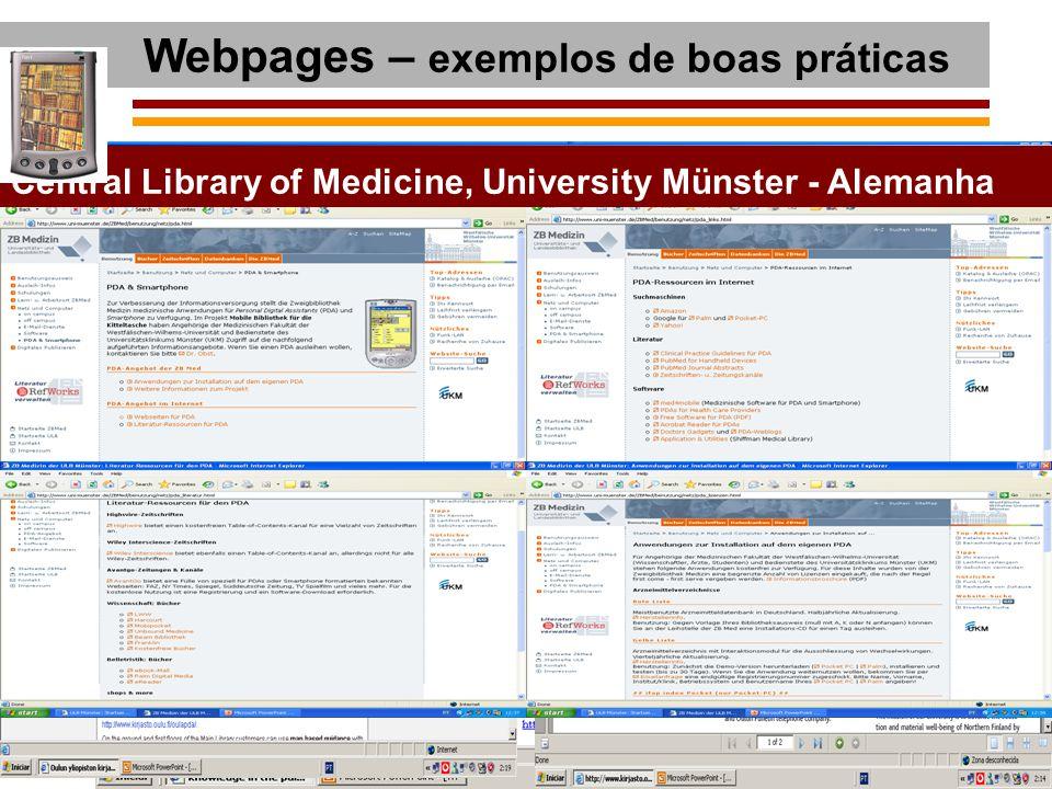 Webpages – exemplos de boas práticas
