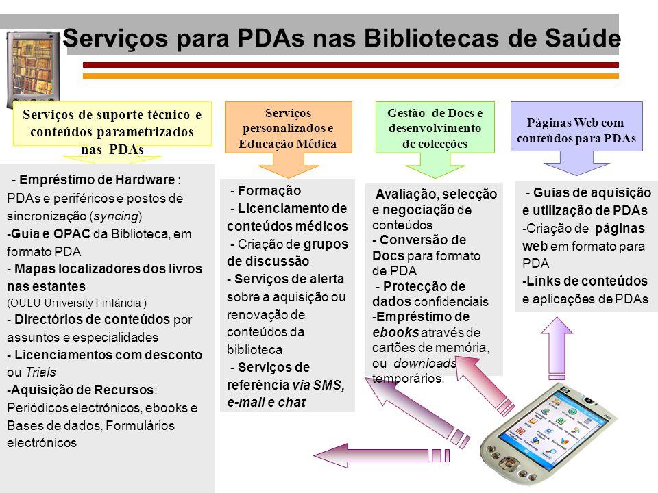 Serviços para PDAs nas Bibliotecas de Saúde