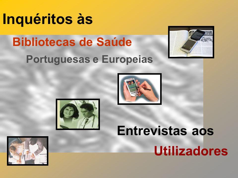 Inquéritos às Bibliotecas de Saúde Portuguesas e Europeias