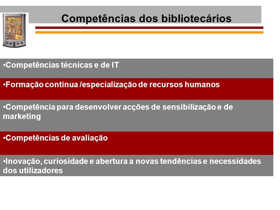 Competências dos bibliotecários