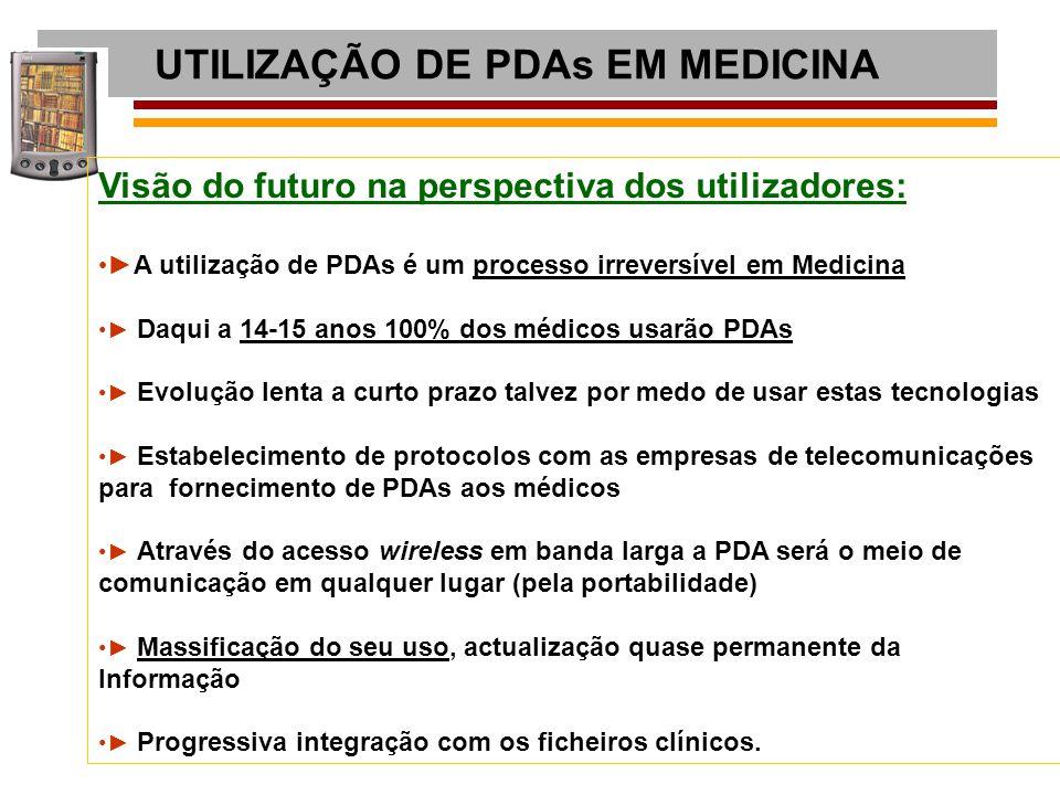 UTILIZAÇÃO DE PDAs EM MEDICINA