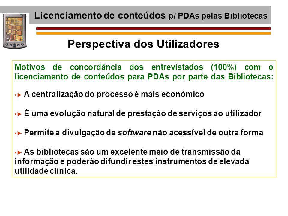 Licenciamento de conteúdos p/ PDAs pelas Bibliotecas
