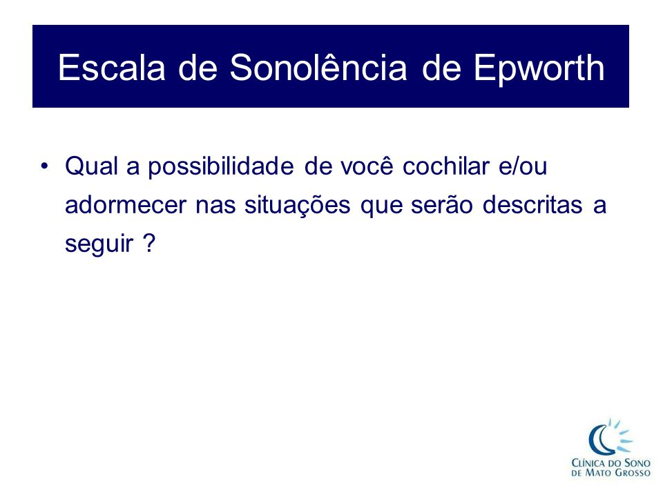 Escala de Sonolência de Epworth