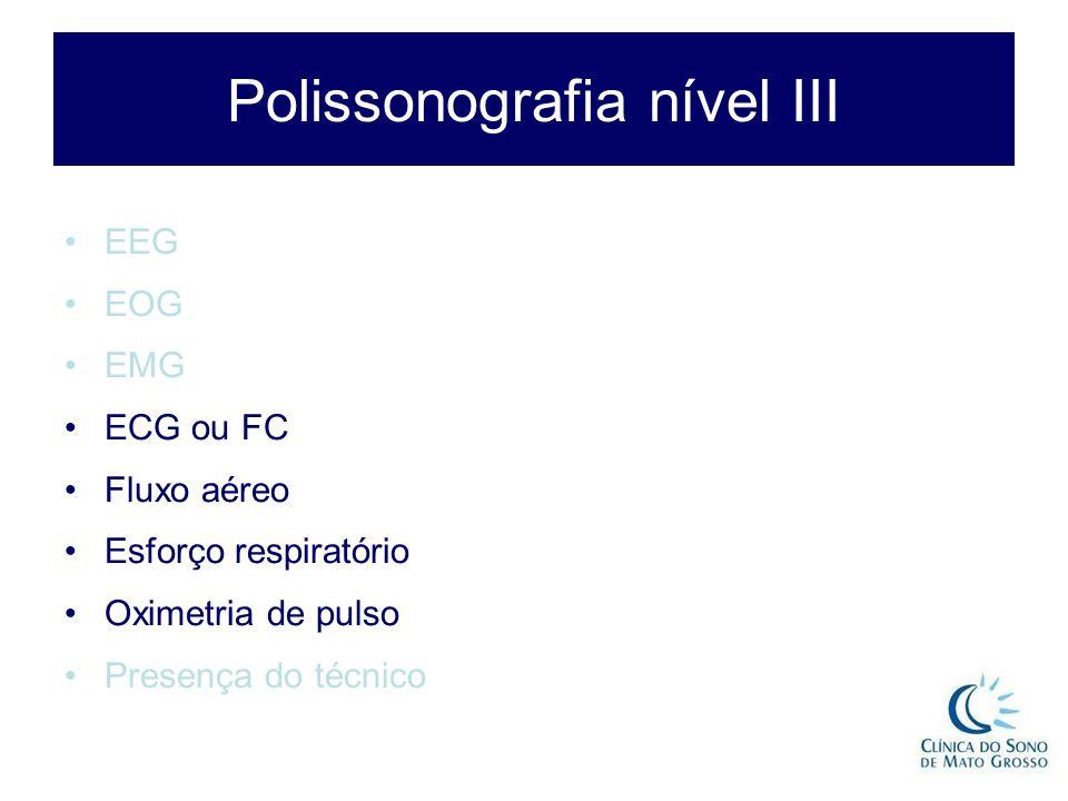 Polissonografia nível III