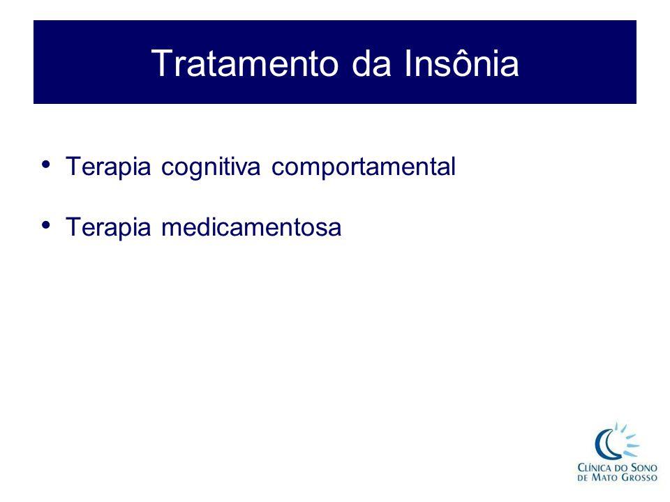 Tratamento da Insônia Terapia cognitiva comportamental