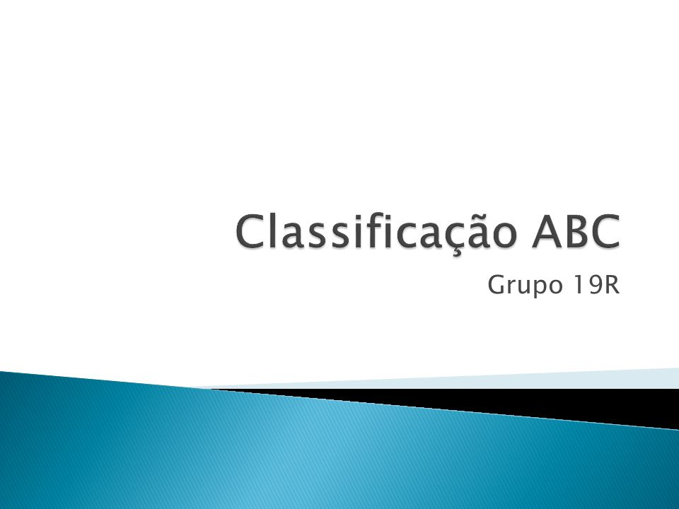 Classificação ABC Grupo 19R