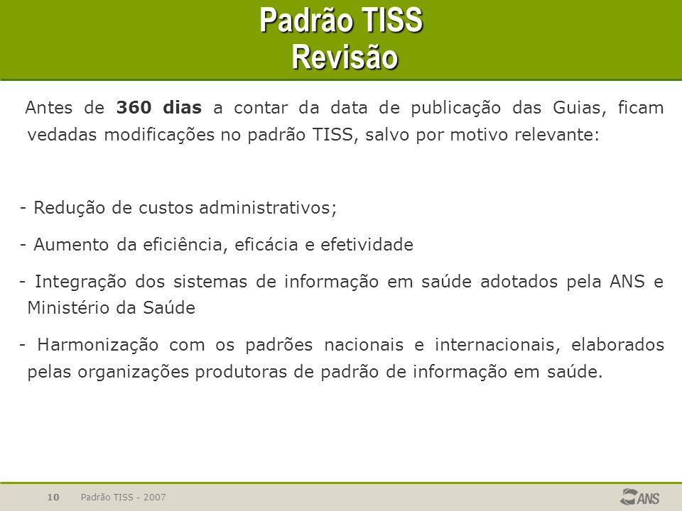 Padrão TISS Revisão