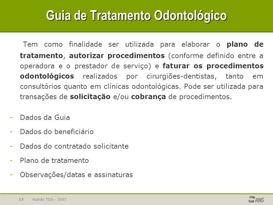 Guia de Tratamento Odontológico