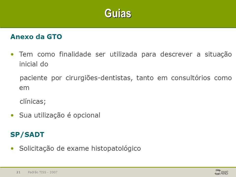 Guias Anexo da GTO. Tem como finalidade ser utilizada para descrever a situação inicial do.