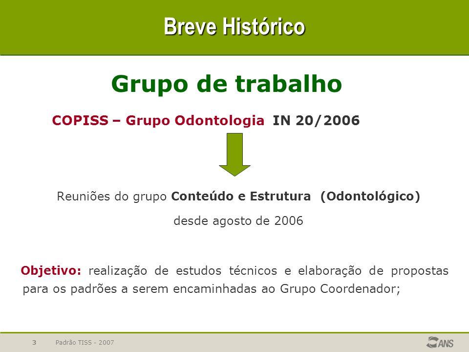 Reuniões do grupo Conteúdo e Estrutura (Odontológico)