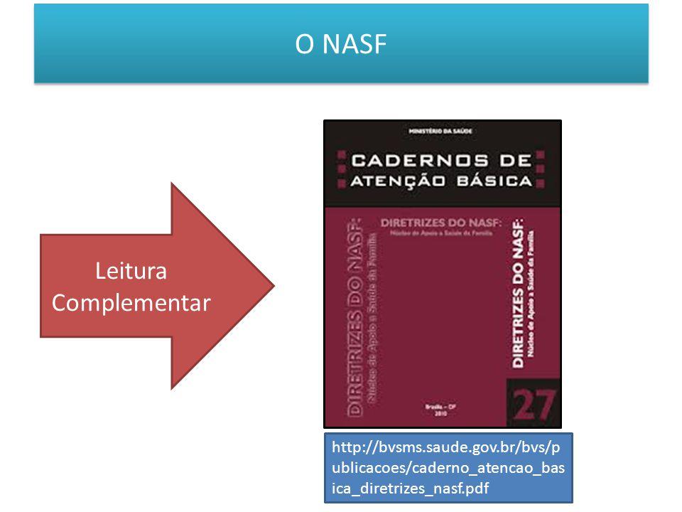 O NASF Leitura Complementar